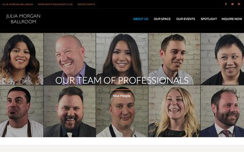 Screenshot of Team Page juliamorganballroom.com - Meet the Julia Morgan Ballroom Team - captured Sept. 20, 2018