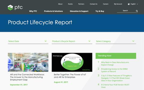 Product Lifecycle Report | PTC