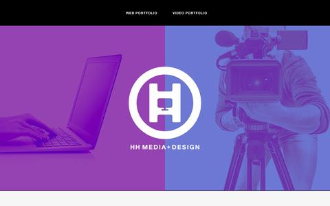 Screenshot of Home Page hhdesign.ca - HH Media & Design | Web Design & Video Production in Halifax NS - captured Jan. 7, 2017