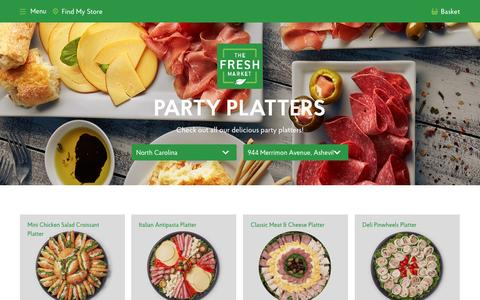 Party Platters Online Order | In-Store Pick Up | The Fresh Market - The Fresh Market