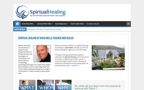 Screenshot of Home Page spiritual-healing.co.uk - David Wells Spiritual Healer - Healing Courses - captured June 13, 2016