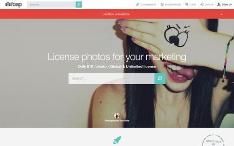 Screenshot of Contact Page foap.com - Foap - Engaging social media photos - captured July 3, 2015