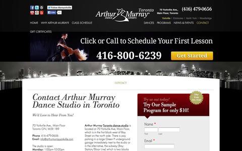 Screenshot of Privacy Page Contact Page arthurmurraytoronto.com - Toronto Dance Studio Location - captured Oct. 23, 2014