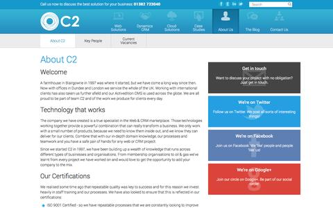 Screenshot of About Page c2software.com - About C2 Software - Dynamics CRM and Web experts - captured Sept. 26, 2014