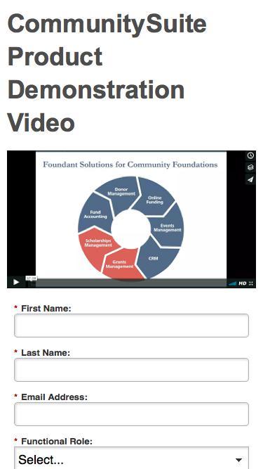 CommunitySuite Product Demonstration Video