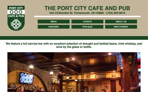 Screenshot of Home Page theportcitycafeandpub.com - Home - captured Oct. 2, 2014