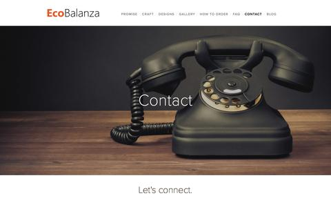 Screenshot of Contact Page ecobalanza.com - Contact — Ecobalanza - captured Jan. 25, 2016