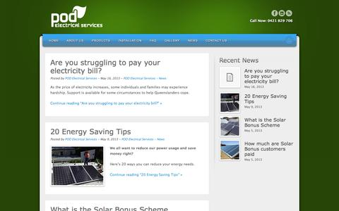 Screenshot of Press Page podelectrical.com.au - POD ELECTRICAL SERVICES - captured Oct. 7, 2014