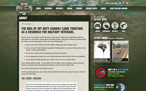 Screenshot of About Page offdutygamers.com - About • Off Duty Gamers - captured Oct. 7, 2014