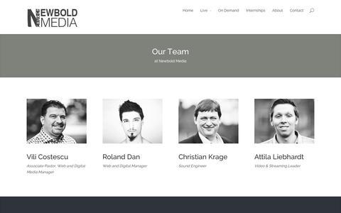 Screenshot of Team Page newboldmedia.org - Our Team | Newbold Media - captured Oct. 26, 2014