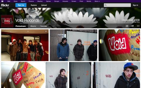 Screenshot of Flickr Page flickr.com - Flickr: Void Records' Photostream - captured Oct. 26, 2014