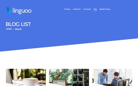 Screenshot of Blog linguoo.com - Blog | Linguoo - captured May 20, 2017