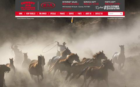 Screenshot of About Page cowboykiaconroe.com - About Cowboy Kia In Conroe | Cowboy Kia - captured Oct. 3, 2014