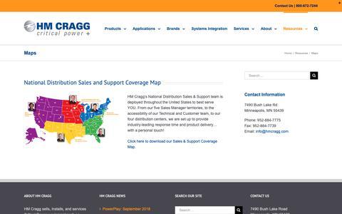 Screenshot of Maps & Directions Page hmcragg.com - Maps, Minneapolis MN | HM Cragg - captured Nov. 4, 2018