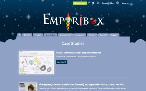 Screenshot of Case Studies Page empiribox.com - Case Studies  Empiribox - captured Nov. 2, 2014
