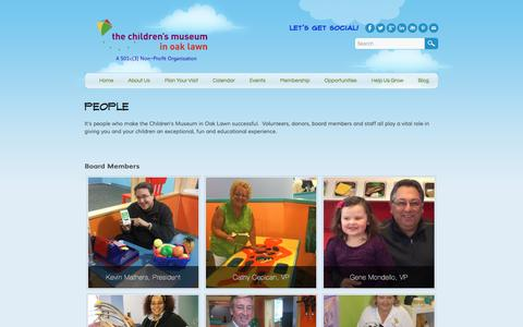 Screenshot of Team Page cmoaklawn.org - People - Children's Museum in Oak Lawn - captured Jan. 27, 2016