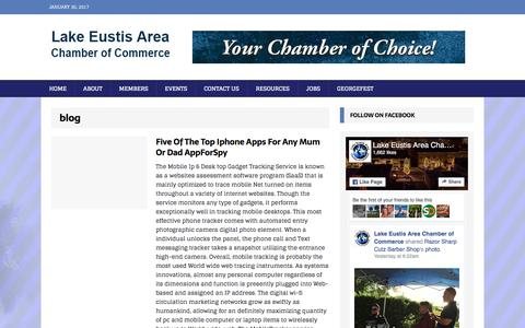 Screenshot of Blog eustischamber.org - blog Archives - Lake Eustis Area Chamber of Commerce - captured Jan. 30, 2017
