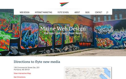 Screenshot of Maps & Directions Page takeflyte.com - Directions - Flyte New Media - captured Sept. 23, 2014