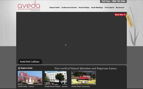 Screenshot of Home Page avedahotels.com - Aveda Hotels - captured March 17, 2016