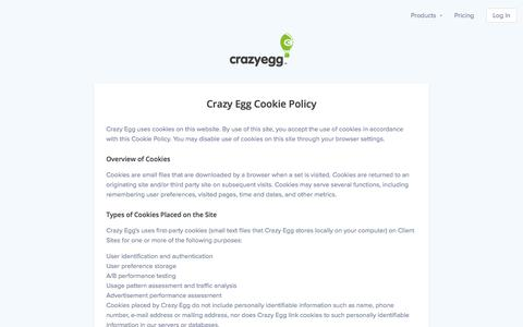 Screenshot of crazyegg.com - A/B Testing & Heatmaps - Crazy Egg Website Optimization Software - captured Oct. 19, 2017