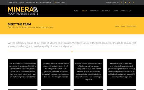 Screenshot of Team Page minera-rooftrusses.com - Meet the Team | Minera Roof Trusses - captured Dec. 20, 2016