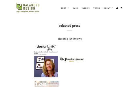 Screenshot of Press Page balanced-design.com - selected press – Balanced Design - captured June 3, 2017