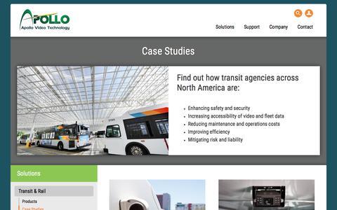 Screenshot of Case Studies Page apollovideotechnology.com - Case Studies - Apollo Video - captured Dec. 25, 2015
