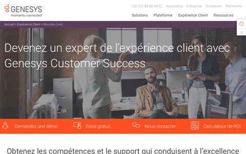 Screenshot of Services Page genesys.com - Assurez l'excellence en matière d'expérience client | Genesys Customer Success - captured Oct. 5, 2018
