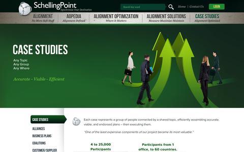 Screenshot of Case Studies Page schellingpoint.com - Case Studies  |  SchellingPoint - captured Sept. 30, 2014