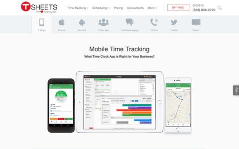 #1 Mobile Time Clock & Employee Timesheet App - Try Free