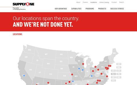 Screenshot of Locations Page supplyone.com - Locations | SupplyOne - captured Oct. 11, 2018