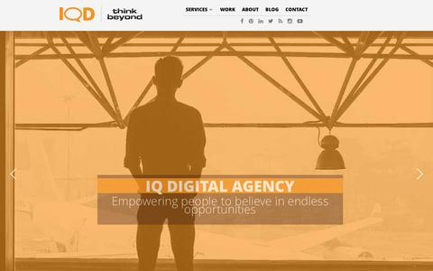 Screenshot of Home Page iqd.agency - IQ Agency | Content Marketing| Social Media Digital Marketing - captured April 13, 2016