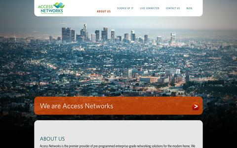 Screenshot of About Page accessca.com - About Us | Access Networks Pre-Programmed Networking Solutions - captured Oct. 4, 2014