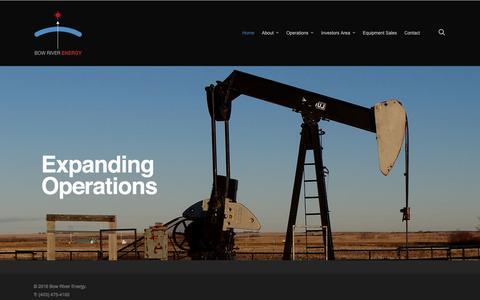 Screenshot of Home Page bowriverenergy.com - Bow River Energy - captured Nov. 23, 2016