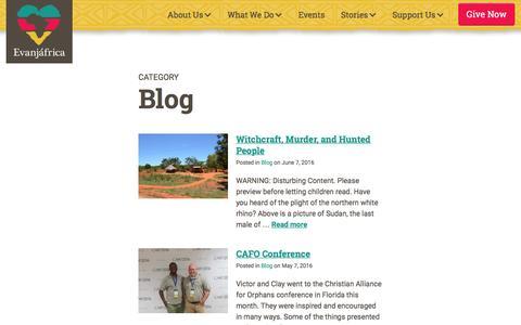 Screenshot of Blog evanjafrica.org - Blog : Evanjáfrica - captured Nov. 27, 2016