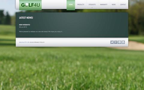 Screenshot of Press Page golf4u.com.au - News - captured Oct. 2, 2014