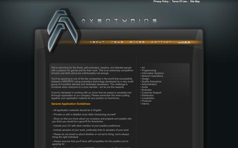 Screenshot of Jobs Page aventurine.gr - Aventurine S.A. : Jobs - captured Sept. 30, 2014