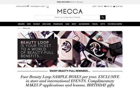 Join the Beauty Loop rewards program now | MECCA