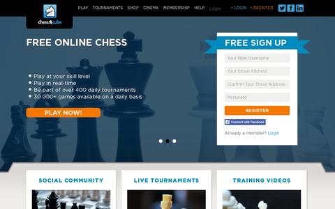 Screenshot of Home Page chesscube.com - Home « ChessCubeChessCube - captured July 11, 2014