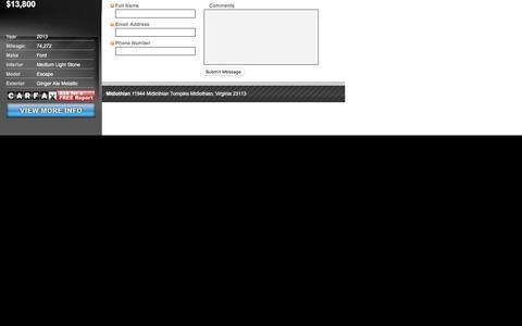 Screenshot of Landing Page carlotz.com - Quick Contact - captured Aug. 19, 2016