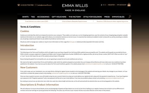 Screenshot of Privacy Page FAQ Page Terms Page emmawillis.com - Terms & Conditions | Emma Willis - captured June 30, 2017