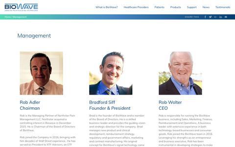 Screenshot of Team Page biowave.com - Management - Biowave - captured Oct. 6, 2018
