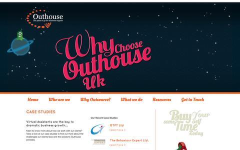 Screenshot of Case Studies Page outhouseuk.com - Case Studies | Outhouse UK | The place to go for business support - captured Oct. 26, 2014