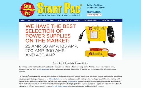 Screenshot of Home Page startpac.com - GPU, Lithium Batteries, 24 Volt Portable Power Supply Pack, Battery Packs - captured Sept. 30, 2014