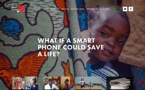 Screenshot of Home Page virtualdoctors.org - Technology & Medicine | Telemedicine Charity | The Virtual Doctors - captured Sept. 25, 2018