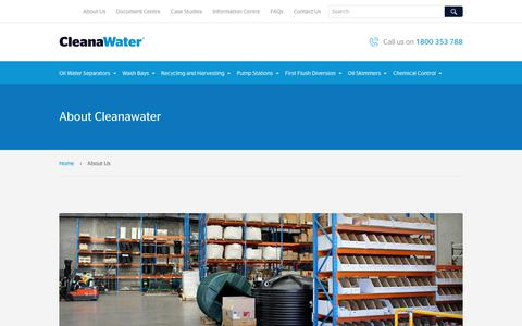 Screenshot of About Page cleanawater.com.au - About Us | Cleanawater - captured Sept. 20, 2018