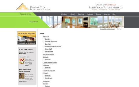 Screenshot of Site Map Page kcbuilding.com - Sitemap - captured Oct. 6, 2014