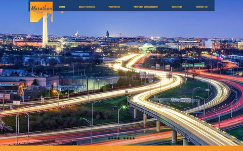 Screenshot of Home Page marathonrgi.com - Marathon Realty Group Inc.  Commercial Real Estate in VA, DC, MD - captured Oct. 16, 2018