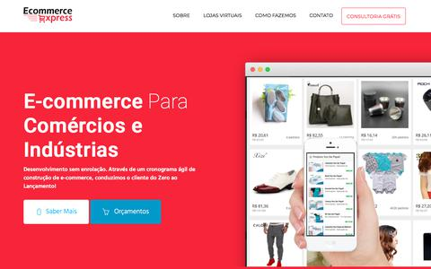 Screenshot of Home Page ecommerceexpress.com.br - E-commerce Express - Bem Vindo - captured Feb. 9, 2018