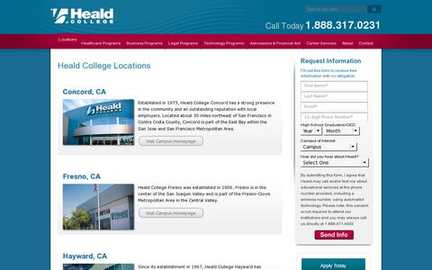 Screenshot of Locations Page heald.edu - Heald College Campus Locations in California, Oregon and Hawaii - captured July 18, 2014